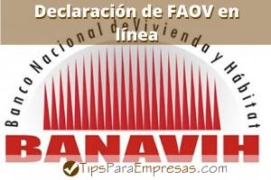 Declaración de FAOV en línea
