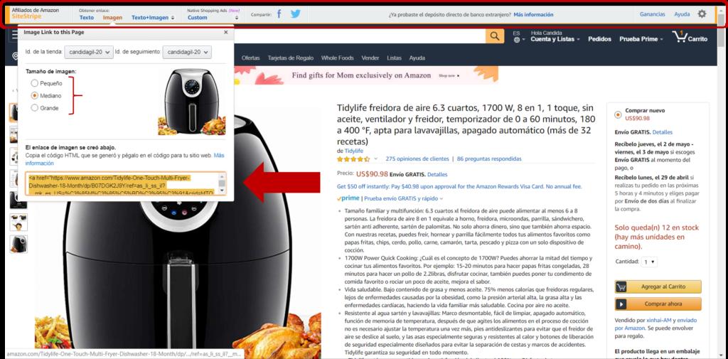 Como colocar enlaces manuales en tu web de Amazon Afiliados